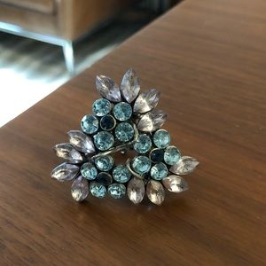 Jewelry - Handmade antique brooch cocktail ring